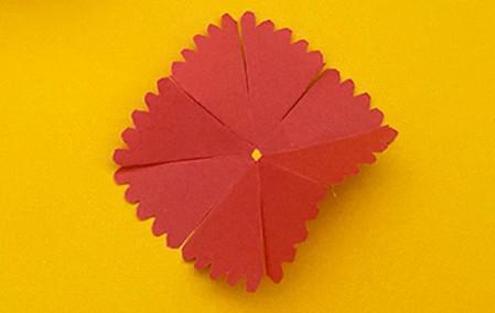 儿童手工折纸康乃馨花教程 手工折纸-第8张
