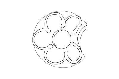 甜甜圈简笔画图片大全作品四