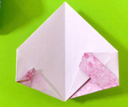 冰淇淋折纸步骤图解法 手工折纸-第11张