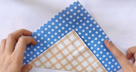 八瓣花手工折纸步骤图解法 手工折纸-第5张
