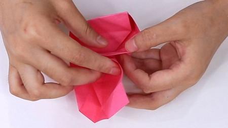 儿童手工折纸心形盒子的折法图解 手工折纸-第10张