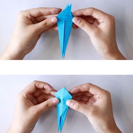 手工折纸蜘蛛图解步骤 手工折纸-第9张
