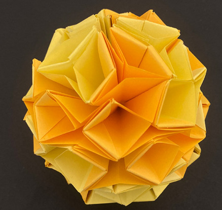 菠萝手工折纸方法图解 手工折纸-第15张