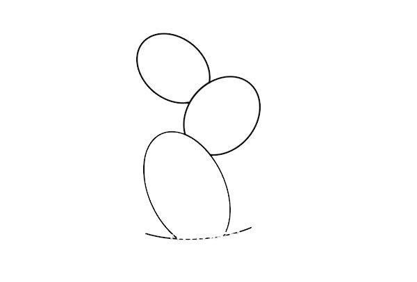 彩色仙人掌简笔画画法步骤图片 初级简笔画教程-第2张
