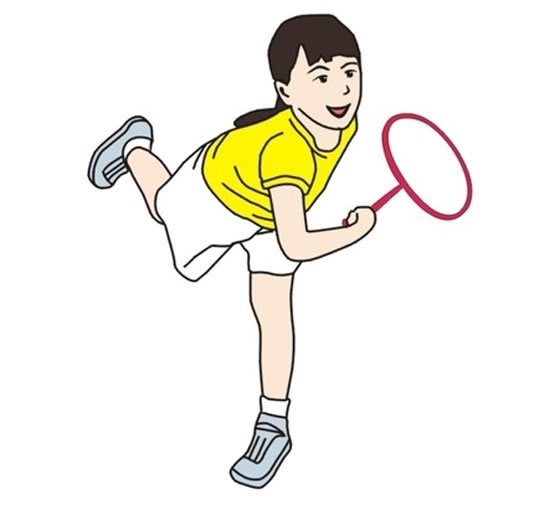 羽毛球运动员简笔画彩色 中级简笔画教程-第1张