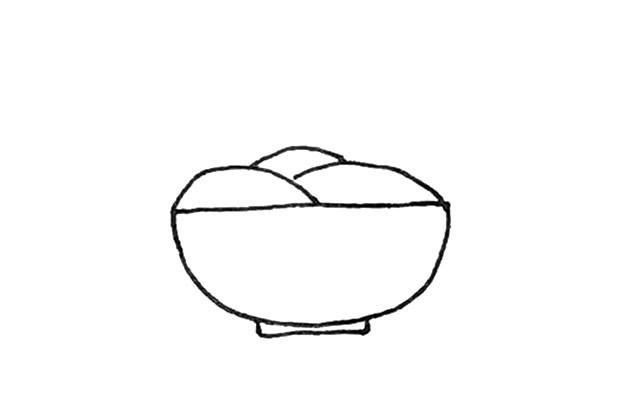 一碗面条简笔画