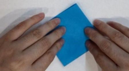 千纸鹤盒子的折法步骤图 手工折纸-第4张