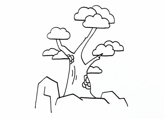 简单易学的松柏树画法步骤 中级简笔画教程-第4张