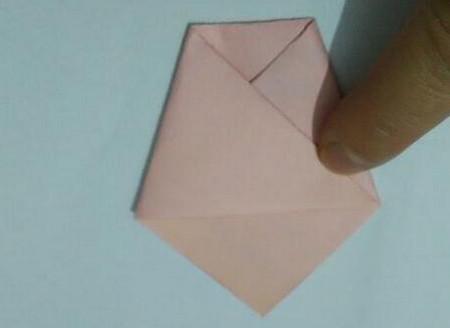 小猫指套折纸步骤图 手工折纸-第5张