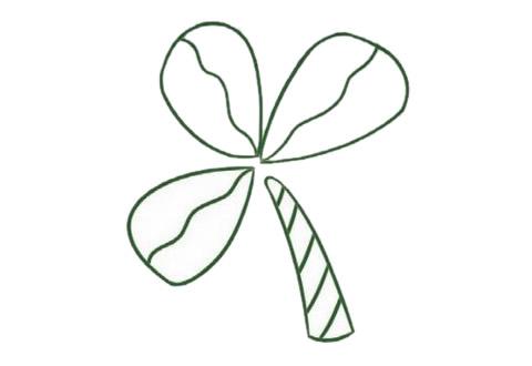 三叶草简笔画的画法步骤图解教程及图片大全 植物-第4张