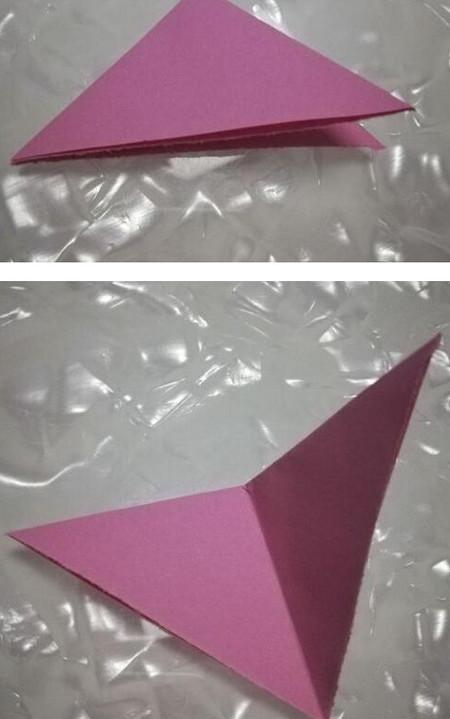 儿童折纸魔术帽的折法图解 手工折纸-第3张