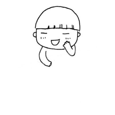 活泼可爱的小男孩简笔画画法 中级简笔画教程-第4张