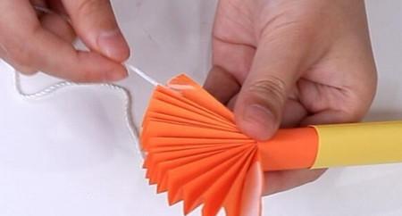 伸缩扇子的折法图解 手工折纸-第18张