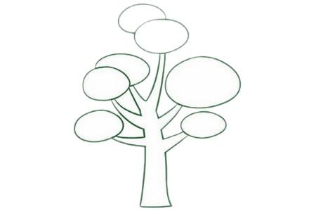 教小朋友画简单的松树简笔画 初级简笔画教程-第4张