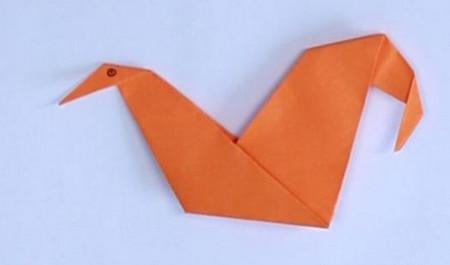 母鸡折纸步骤图解法 手工折纸-第1张