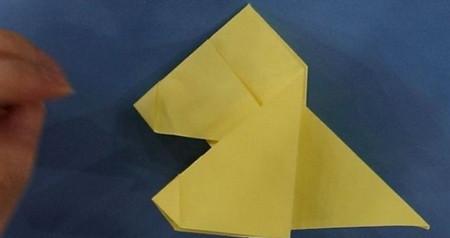 小狗儿童手工折纸步骤图解法 手工折纸-第6张