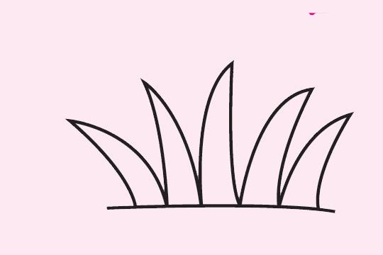 幼儿学画草丛简笔画步骤图片大全 初级简笔画教程-第1张