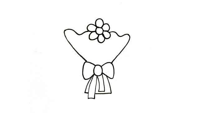 一素鲜花简笔画画法步骤图片 植物-第3张