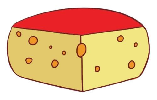 奶酪简笔画完成图