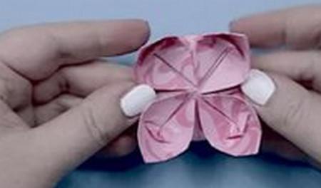 荷花怎么折简单又漂亮教程 手工折纸-第10张