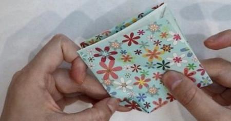 花瓶折纸步骤图解 手工折纸-第5张