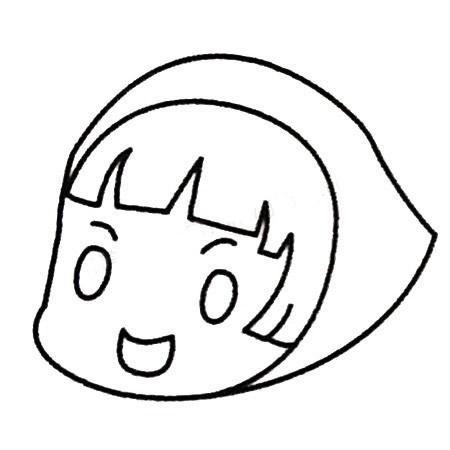 小红帽儿童简笔画画法 人物-第5张