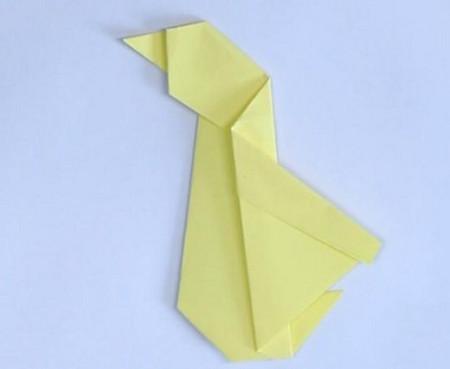 小鸭子折纸步骤图解法 手工折纸-第5张