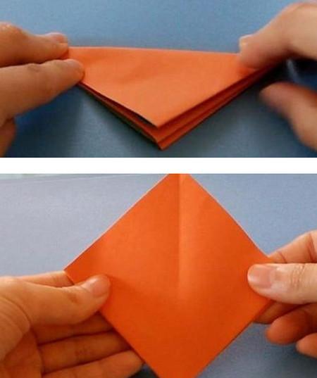 柿子折纸步骤图解 手工折纸-第4张