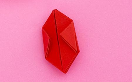 折纸樱桃步骤图解法 手工折纸-第6张