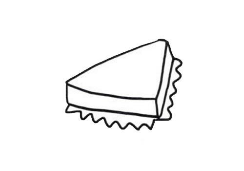 三明治简笔画画法步骤图片