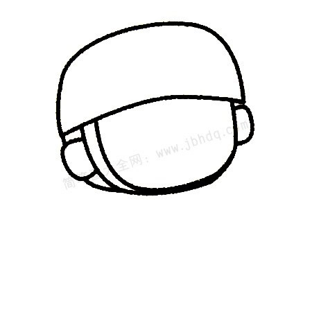儿童画士兵简笔画画法步骤 中级简笔画教程-第3张