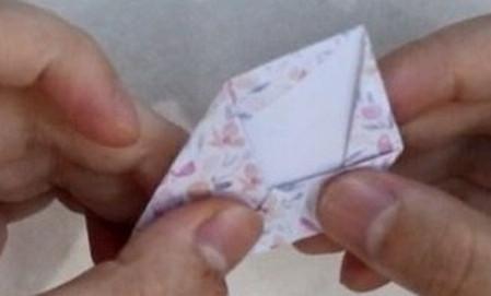 五瓣花折纸教程图解 手工折纸-第9张