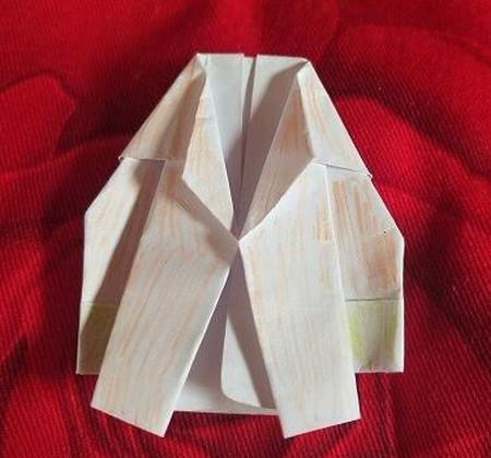 手工折纸西装步骤图解法 手工折纸-第1张