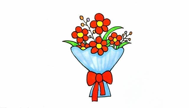 一素鲜花简笔画画法步骤图片 植物-第1张
