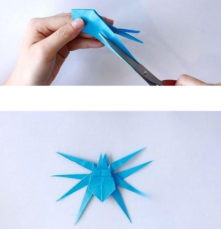 手工折纸蜘蛛图解步骤 手工折纸-第1张