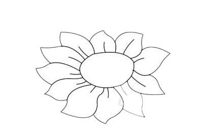 向日葵简笔画简单画法步骤教程及图片大全 植物-第11张