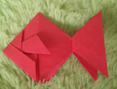 立体小金鱼的简单折法 手工折纸-第12张