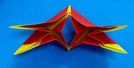 立体无限翻转手工折纸图解 手工折纸-第9张