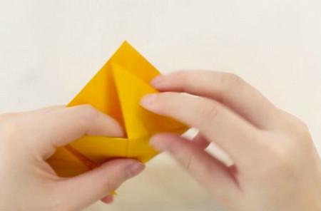 老虎书签的手工折纸图解步骤 手工折纸-第3张