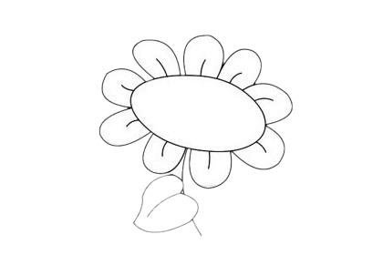 向日葵简笔画简单画法步骤教程及图片大全 植物-第9张