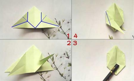 折纸乌龟的折法图解 手工折纸-第3张