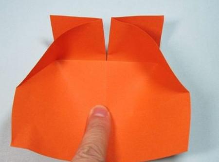 带翅膀爱心的折法图解 手工折纸-第6张