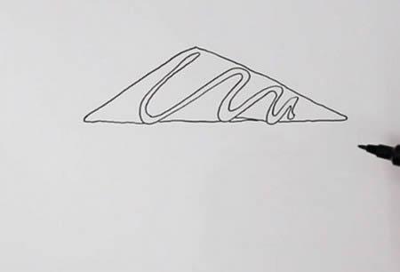 手绘三明治的简笔画怎么画