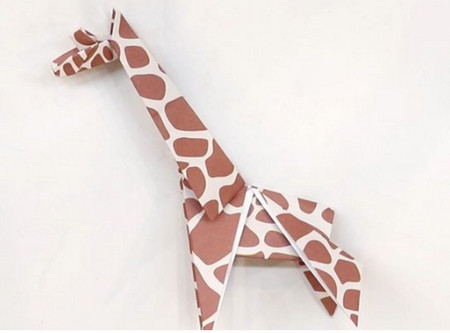 长颈鹿儿童手工折纸步骤图详解 手工折纸-第1张