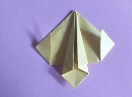 桃心折纸步骤图解 手工折纸-第8张