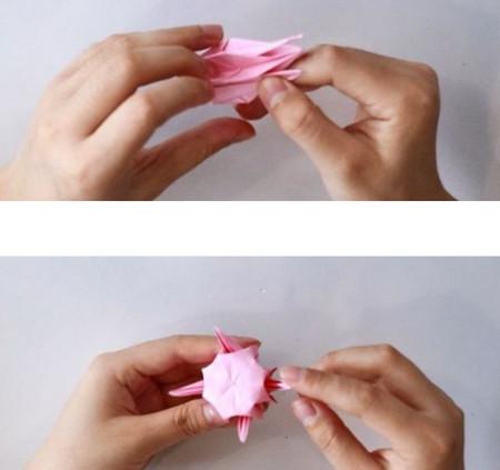 手工折纸立体章鱼怎么折图解 手工折纸-第6张