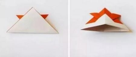 小鱼折纸步骤图解 手工折纸-第5张