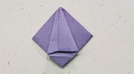 郁金香手工折步骤图解 手工折纸-第9张