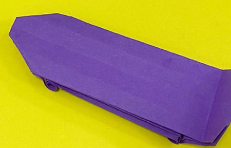 折纸滑板车图解 手工折纸-第1张