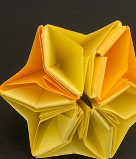 菠萝手工折纸方法图解 手工折纸-第9张